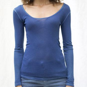 Bleu de cocagne tee-shirt manches longues