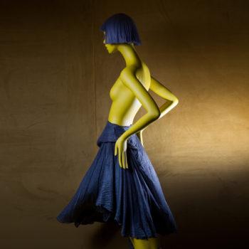 jupe drapée Marc Le Bihan