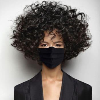 Masque de protection noir Femme
