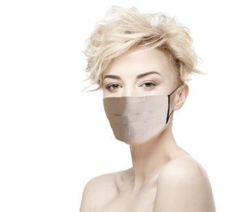 Masque Tissu rose pâle