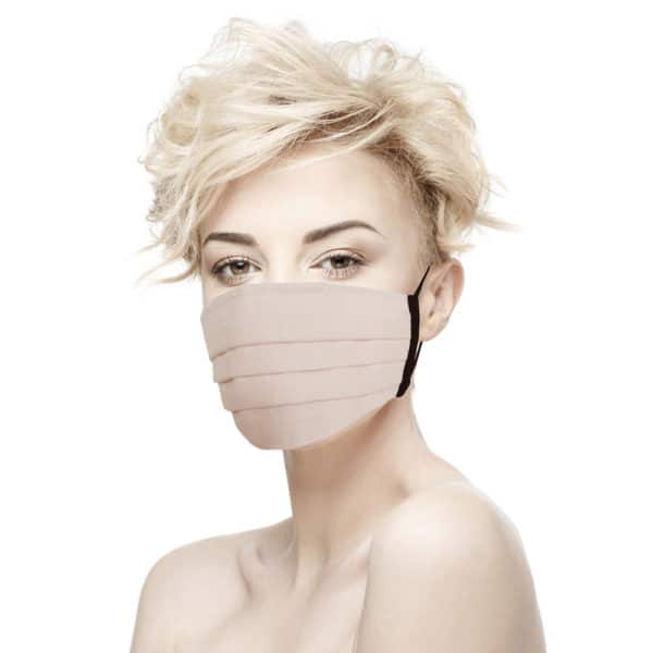 masque tissu chirurgical rose