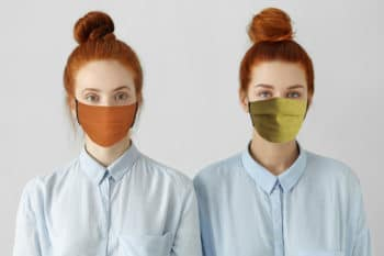 Masque en lin bio couleur