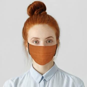 Masque en lin Orange