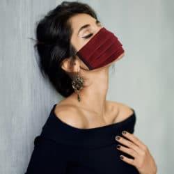 Masque lin bio rouge