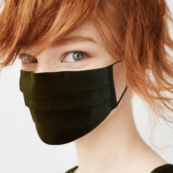 Masque Tissu Lin Vert