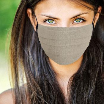 Masque en tissu naturel lin oekotex