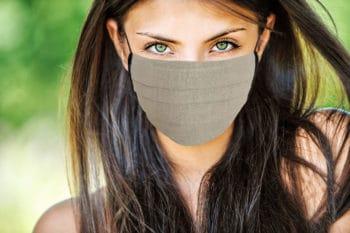 Masque en tissu naturel bio oekotex