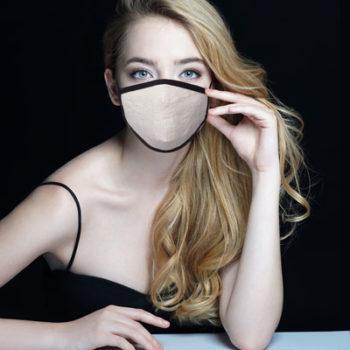 masque lin naturel gansé